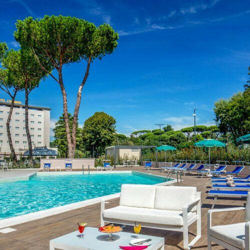 Hotel Cristoforo Colombo Roma(piscina)
